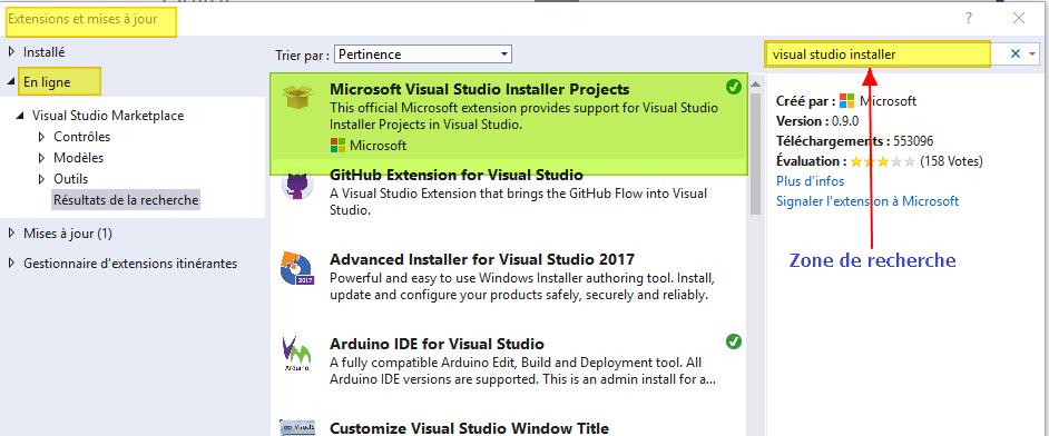 Créer un installeur avec Visual Studio Instaler Project